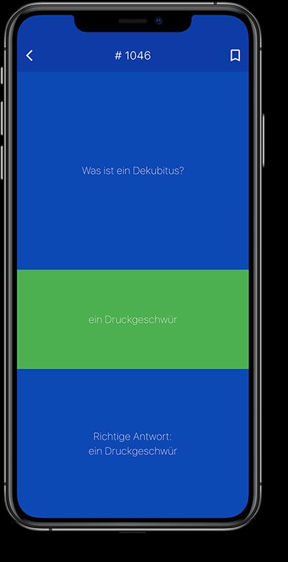 app screenshot Pflege-Examenstrainer